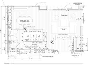 open floor plan by Historia Design & Consulting